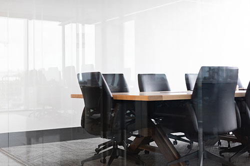 chairs around a conference table