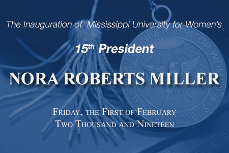 Inauguration of President Nora Miller