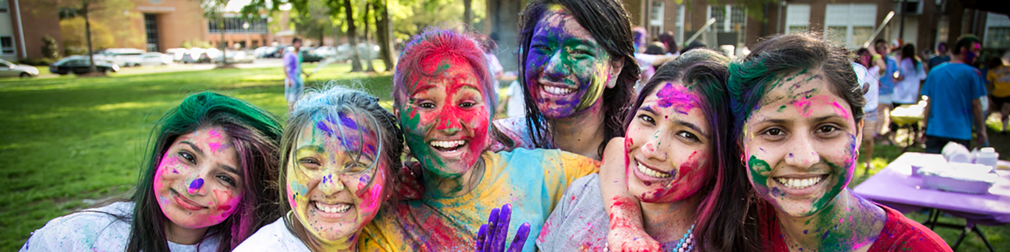 W Students during Holi celebration
