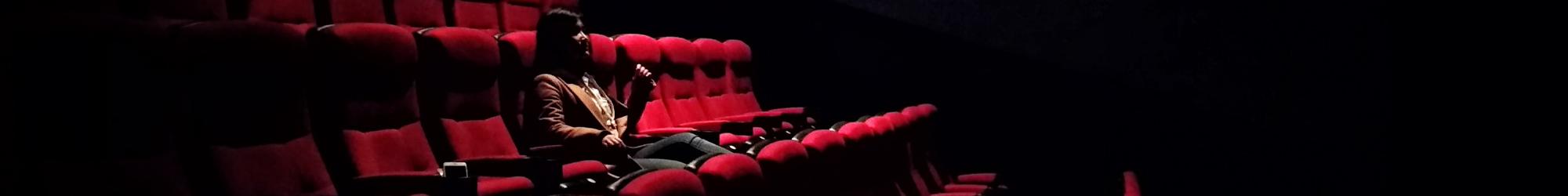 woman sitting in a cinema