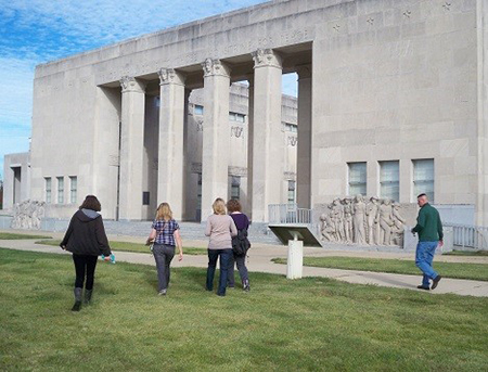 W Students at War Memorial Building in Jackson