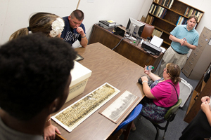 W Students Researching in Archives