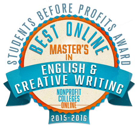 Best Online Masters in English Creative Writing Students Before Profits Award 2015 2016