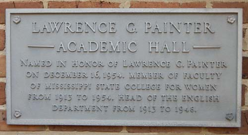Painter Hall Plaque