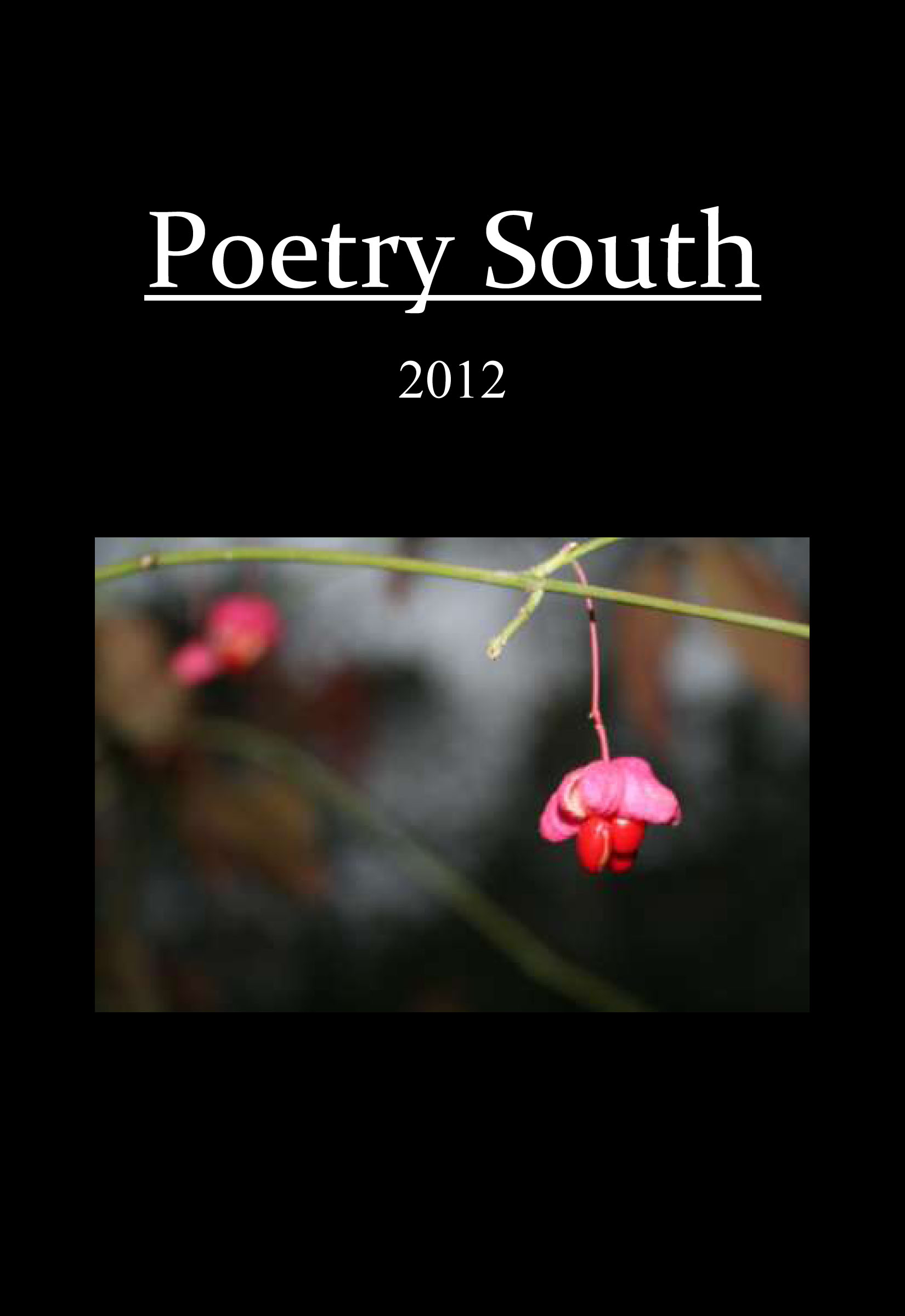 Poetry South 2012 Front Cover