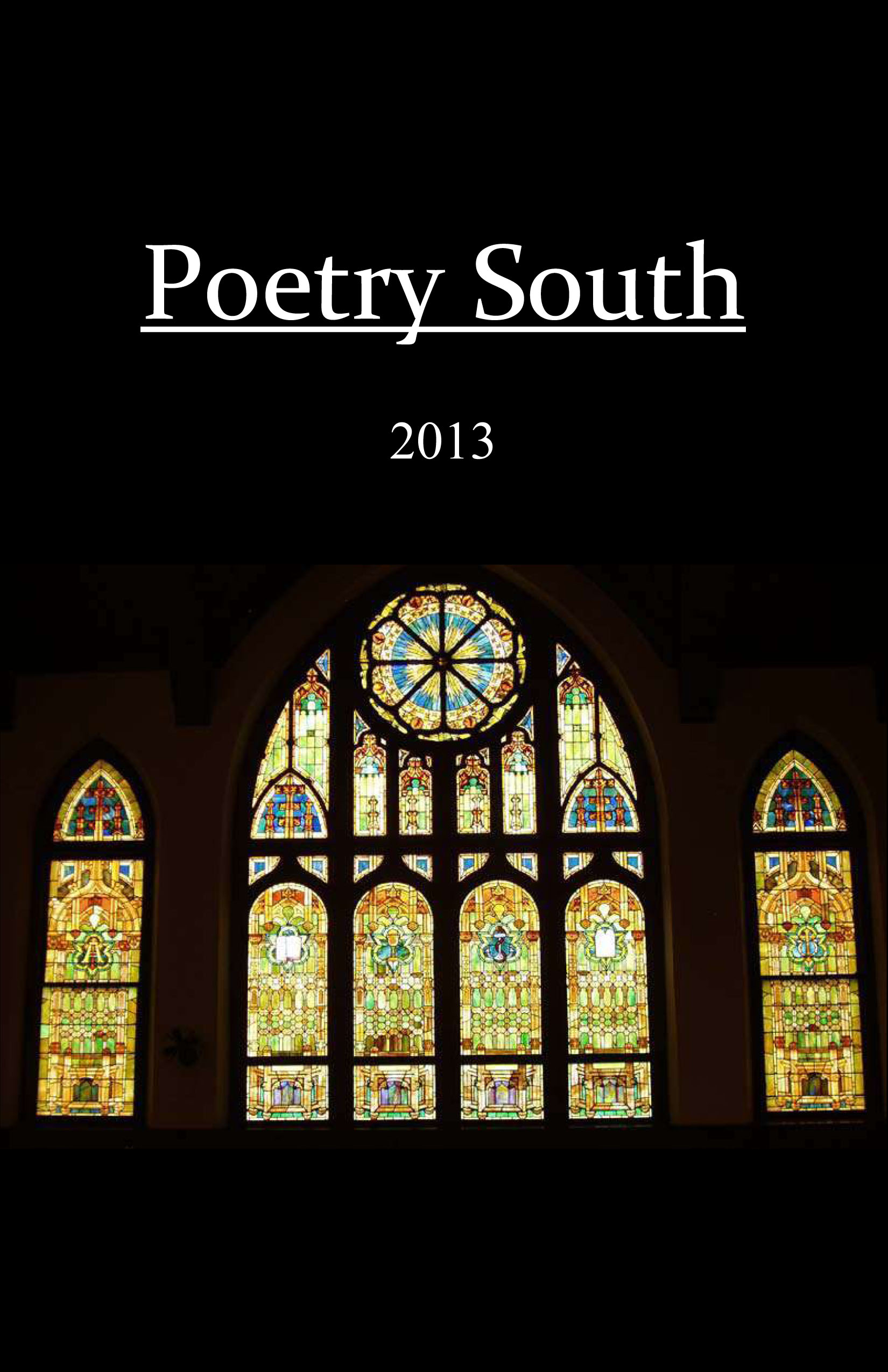 Poetry South 2013 Front Cover