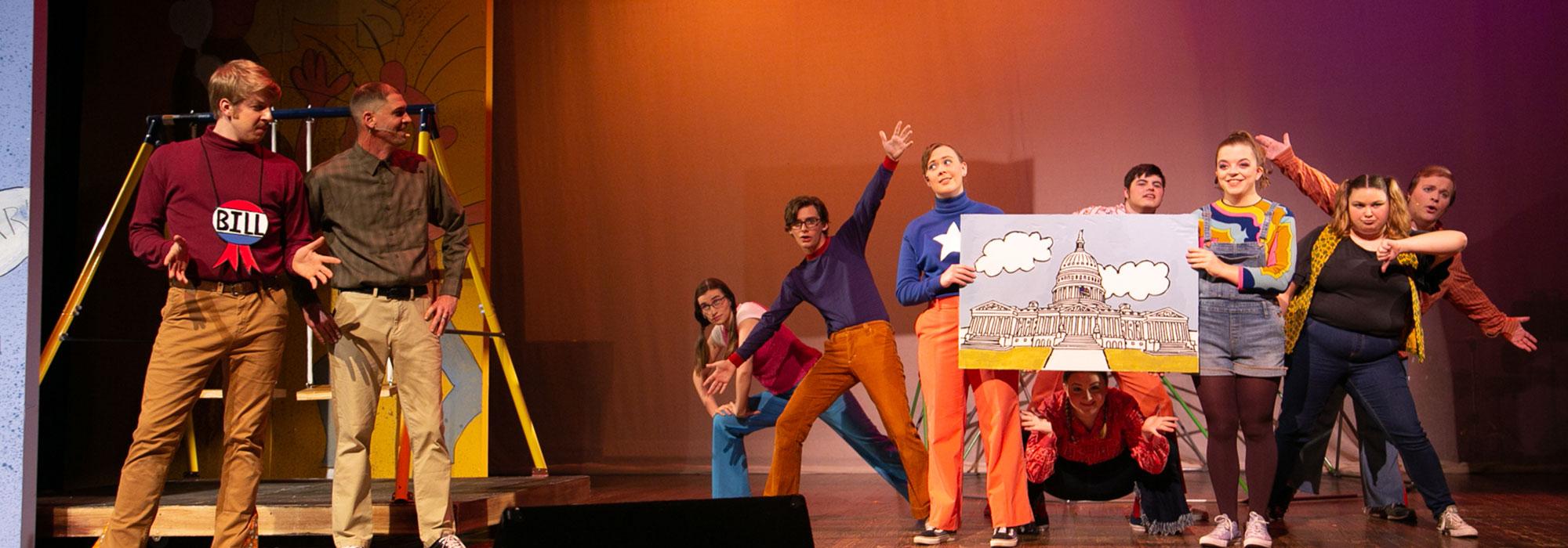 Student Actors performing Schoolhouse Rock'