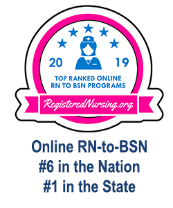 RegisteredNursing.org #6 in the Nation Online RN-to-BSN 2019