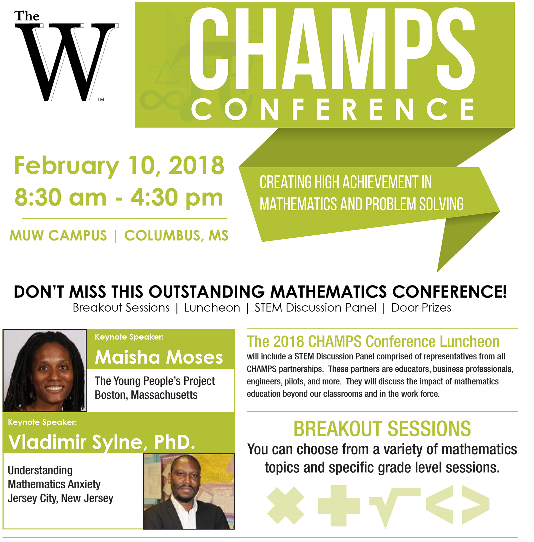 CHAMPS 2018 Conference