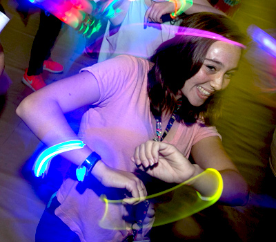 Student Dancing with lights