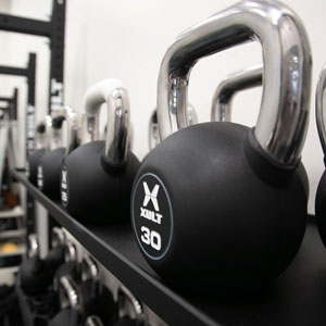 Kettlebell Weights in Rack