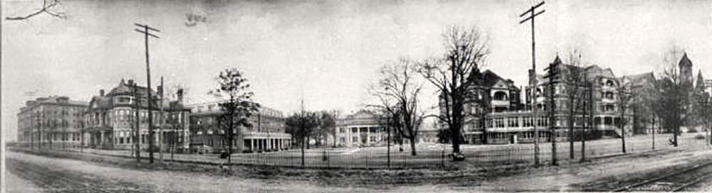 historic panoramic photo of campus