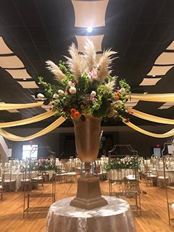 Flower arrangement at 2019 Gala