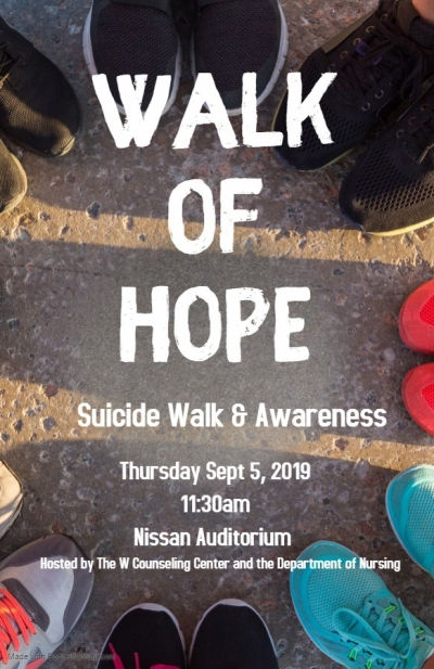 Inaugural Walk of Hope will raise suicide awareness - MUW