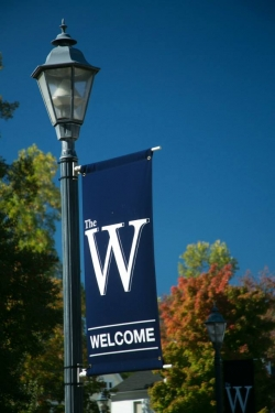 The W Banner on light pole
