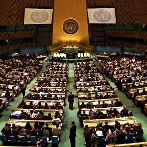 United Nations General Assembly. (cc) Basil D Soufi