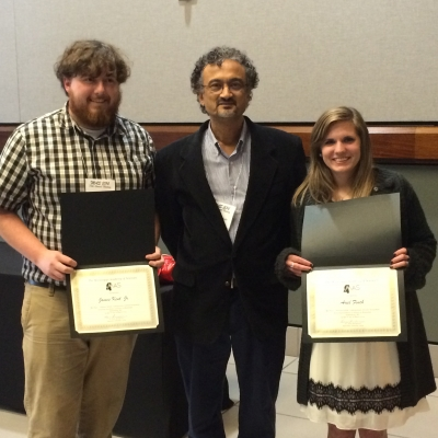 Dr. Heda with student winners
